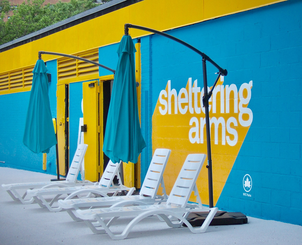 The recently renovated Sheltering Arms Pool in Harlem