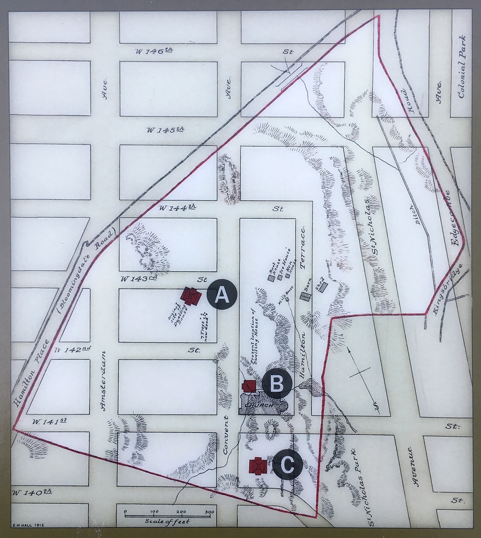 Alexander Hamilton's original location