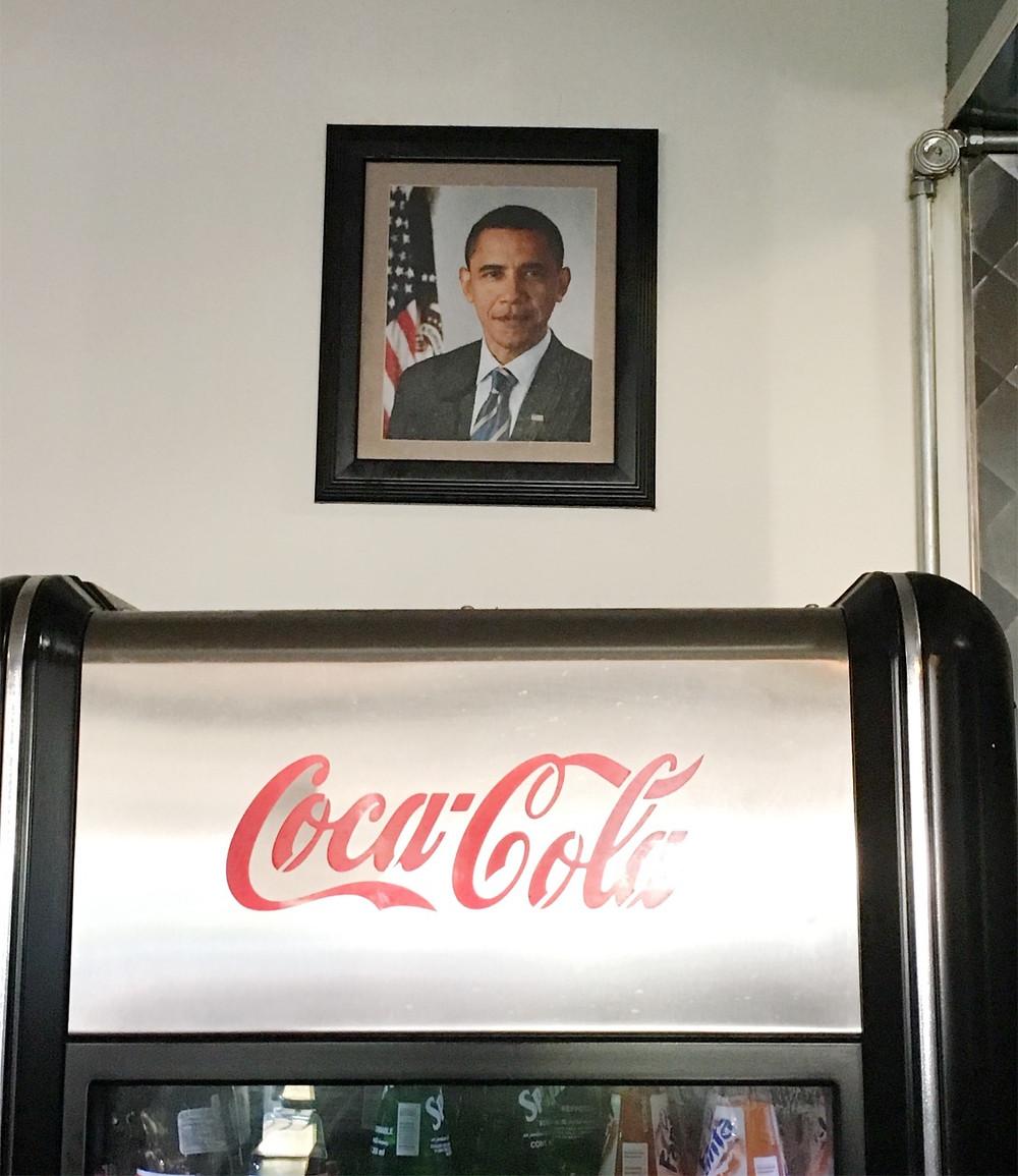 Portrait of Barack Obama at Harlem Shake