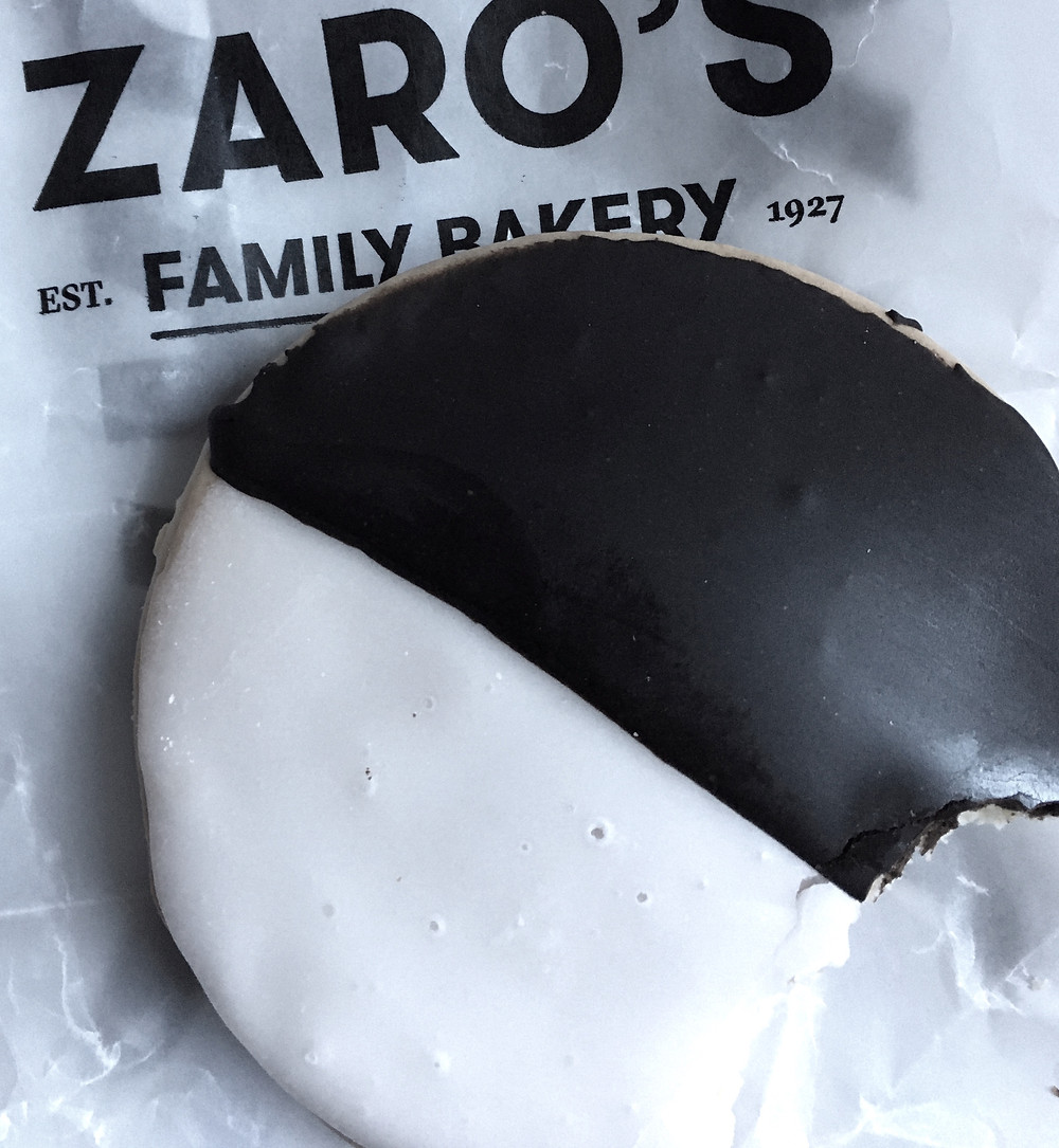 The black and white cookie at the new Zaro's in Harlem