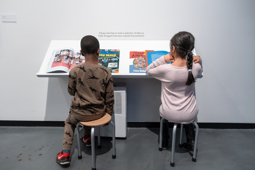 Peruse some of Faith Ringgold's children's books at the Sugar Hill Children's Museum