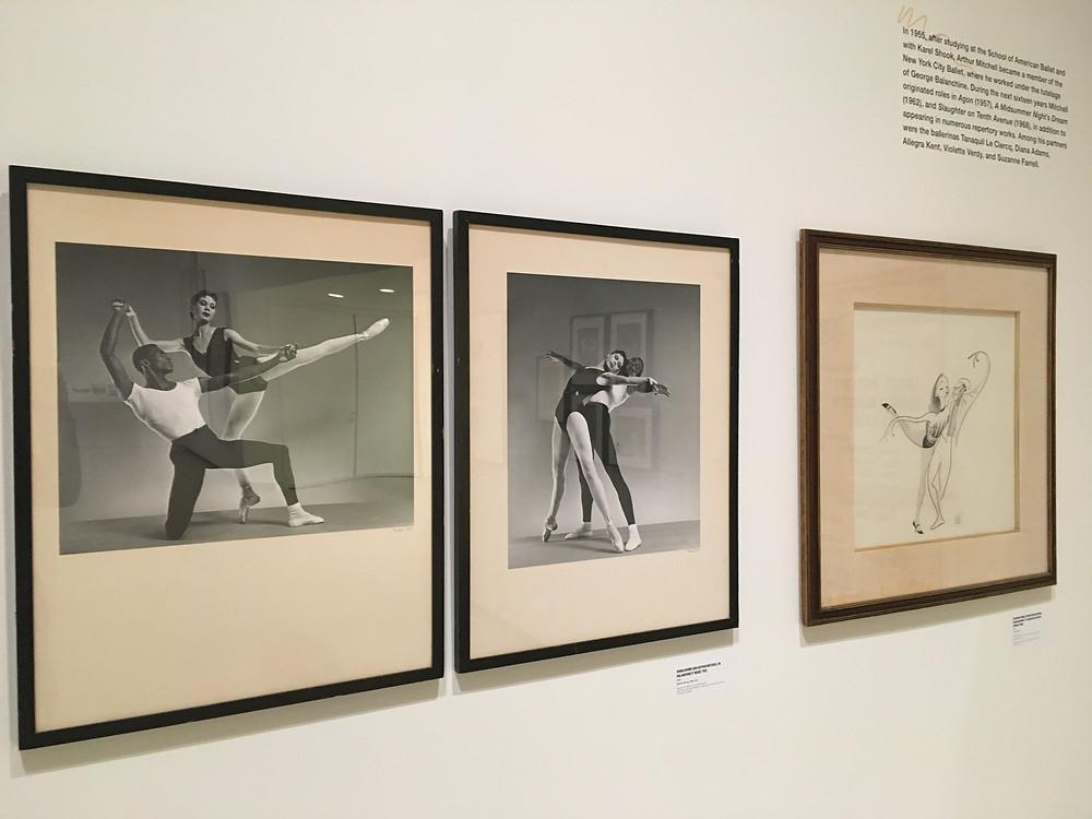 "The exhibit at ""Arthur Mitchell: Harlem's Ballet Trailblazer"""