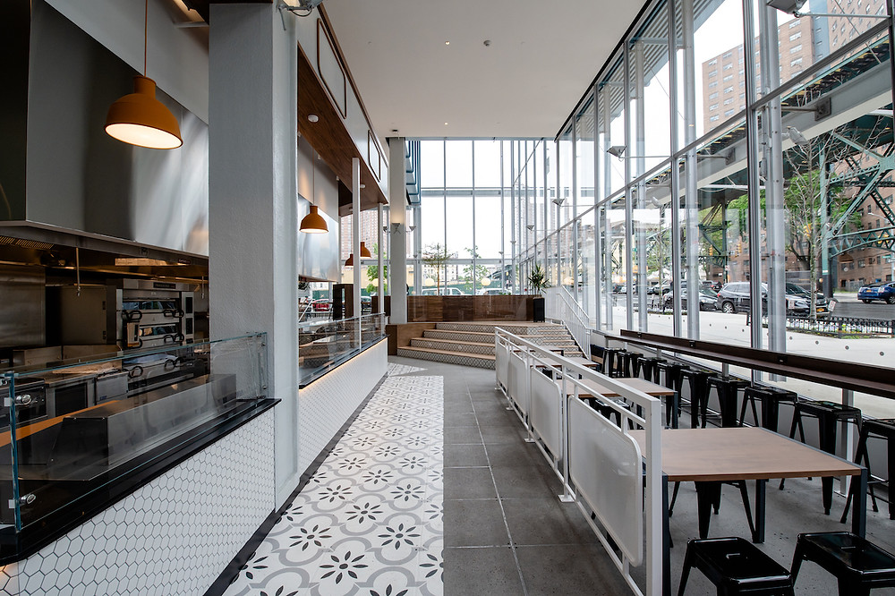 Manhattanville Market, a new food hall opening on Columbia's West Harlem campus.