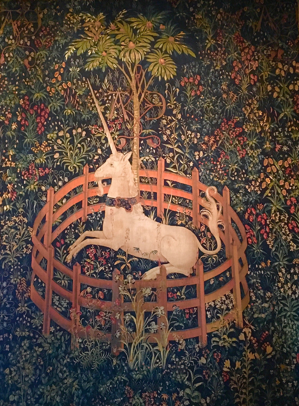 The Unicorn in Captivity tapestry at the Met Cloisters