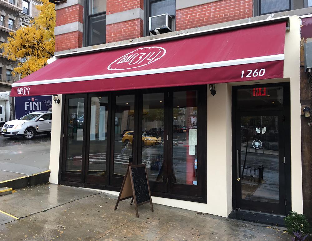Bar 314 in Morningside Heights