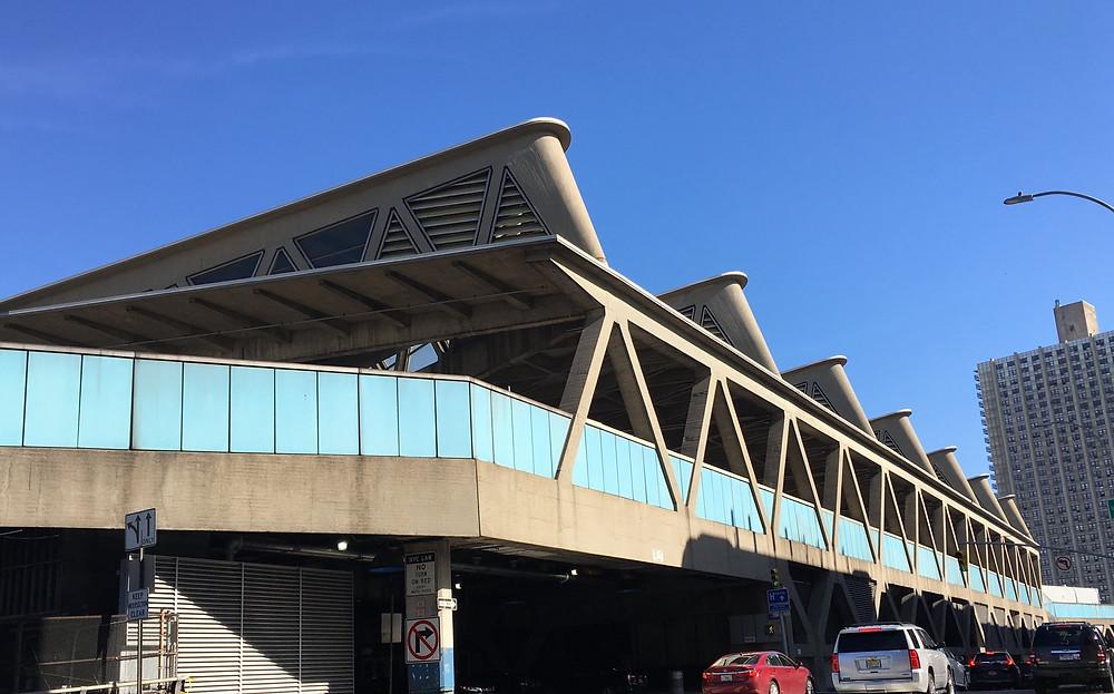 The George Washington Bridge Bus Station was designed by Pier Luigi Nervi
