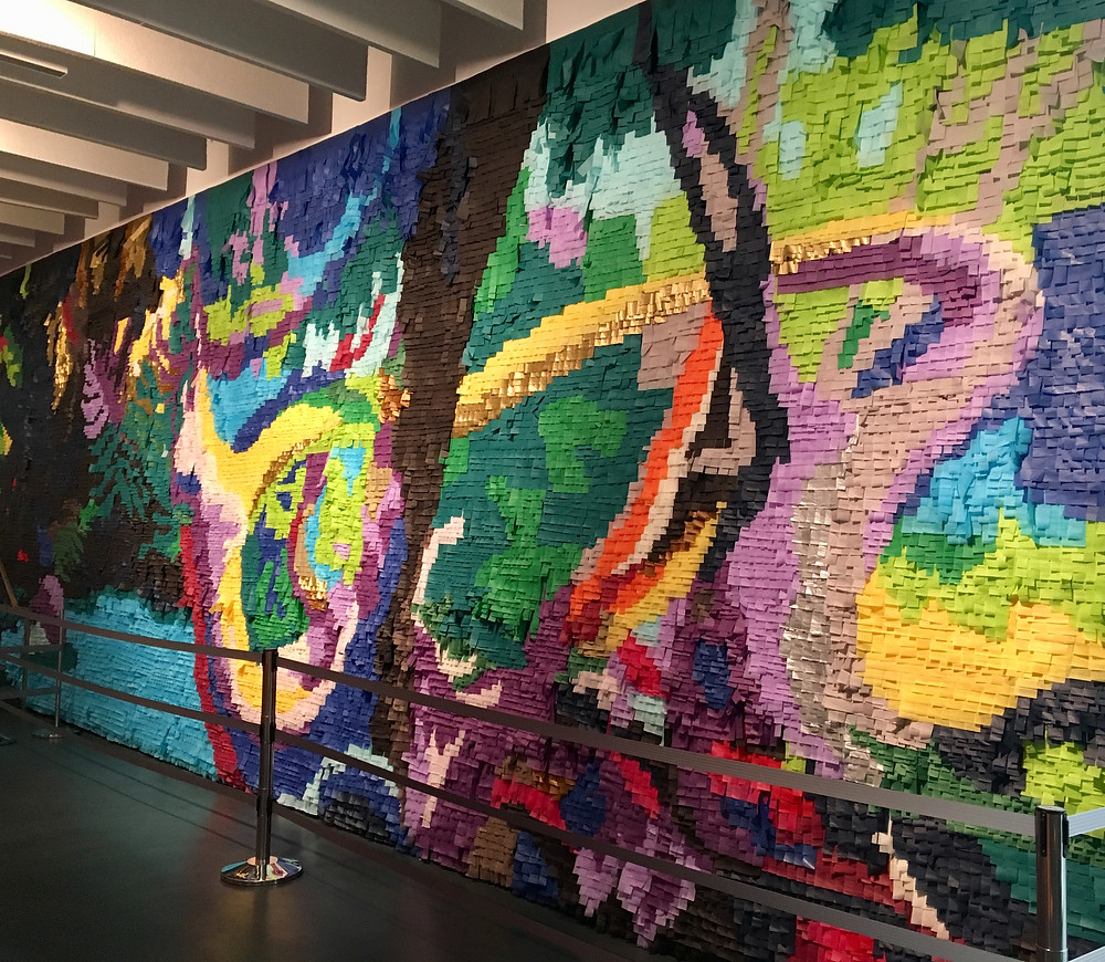 Justin Favela's tissue paper murals at the Sugar Hill Children's Museum