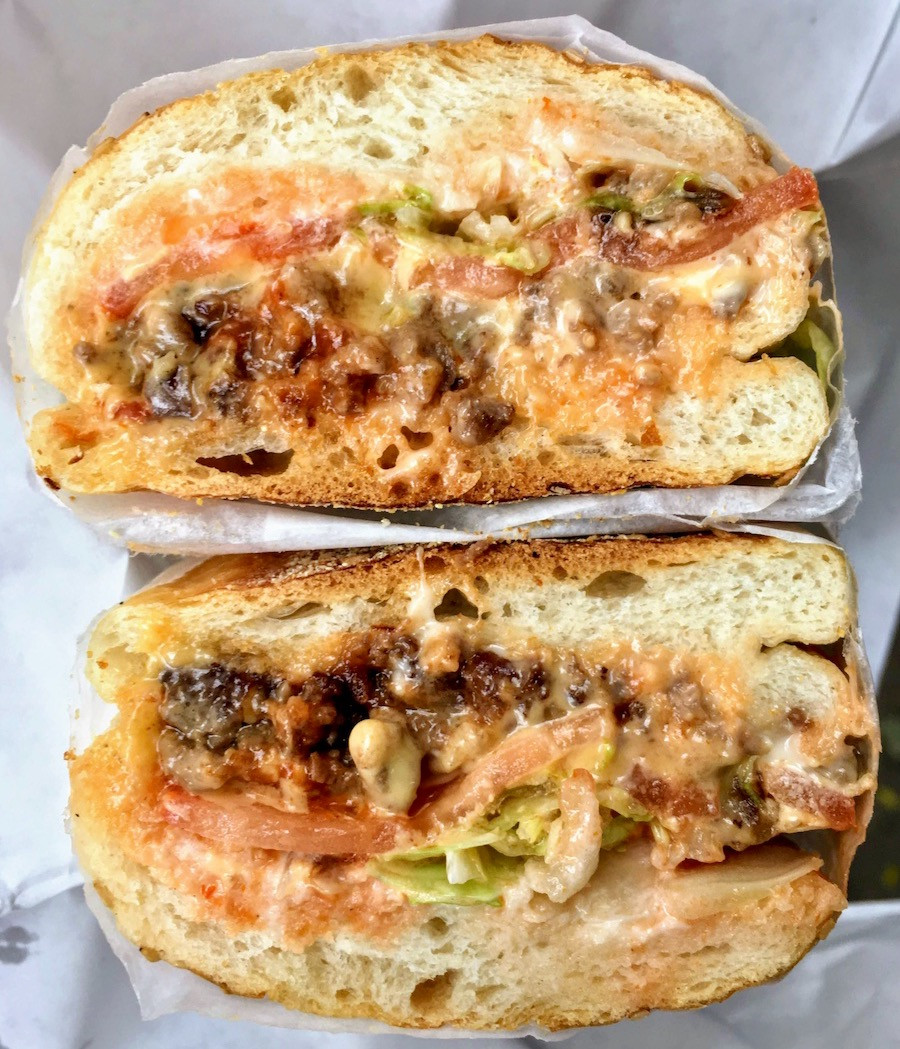 Head to Hajji's in East Harlem for the original chopped cheese. Here's what's in it.