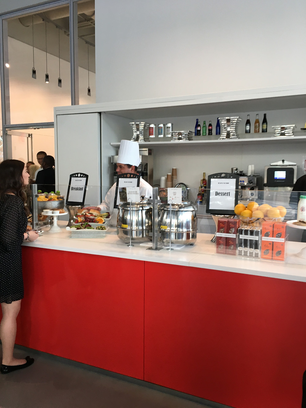 The Cafe at the Forum is a place to get a coffee and a light bite