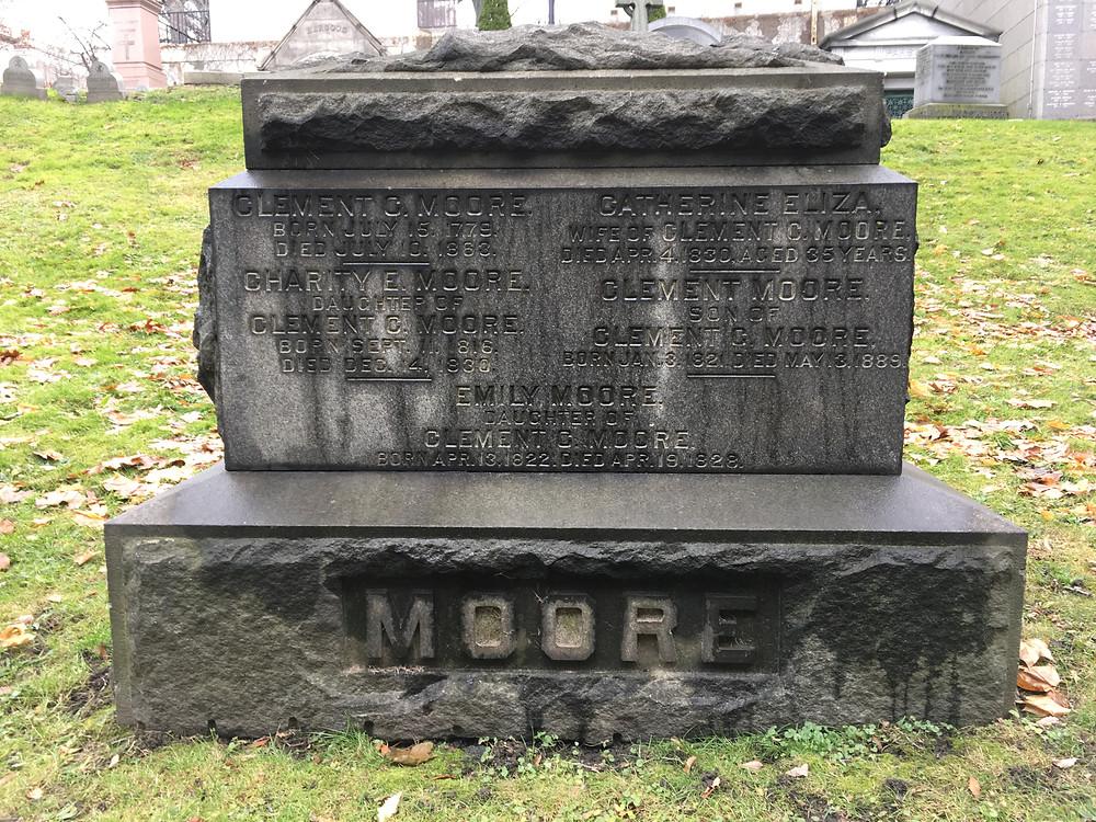 Clement Clarke Moore's grave