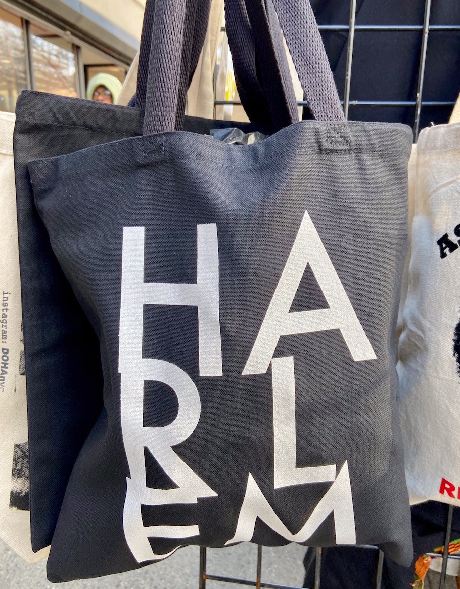'Harlem' tote from street vendor on 125th Street