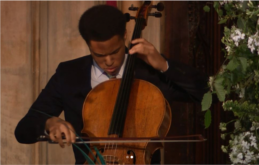 Cellist Sheku Kanneh-Mason performing at the royal wedding