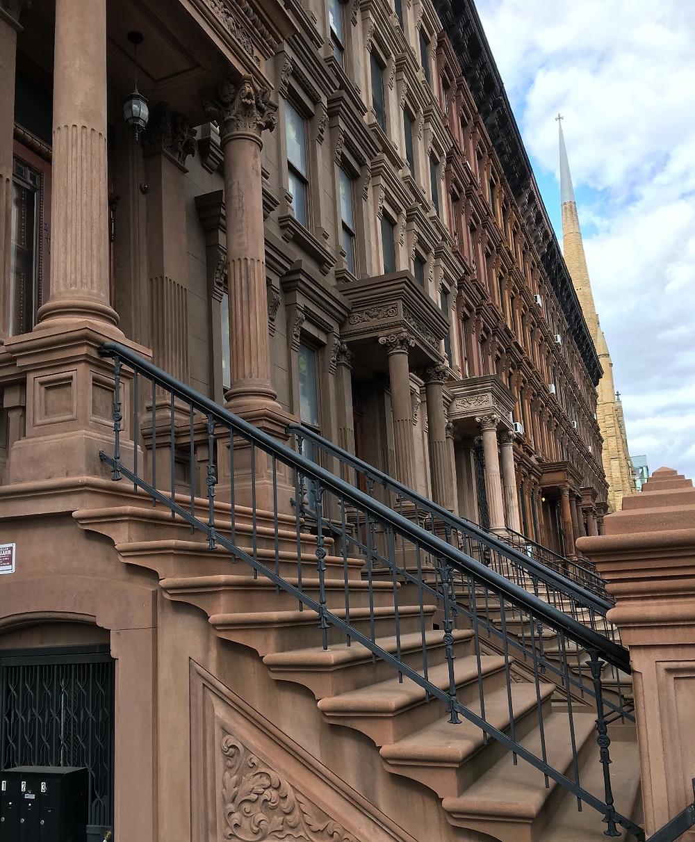 Harlem brownstones on Lenox Avenue