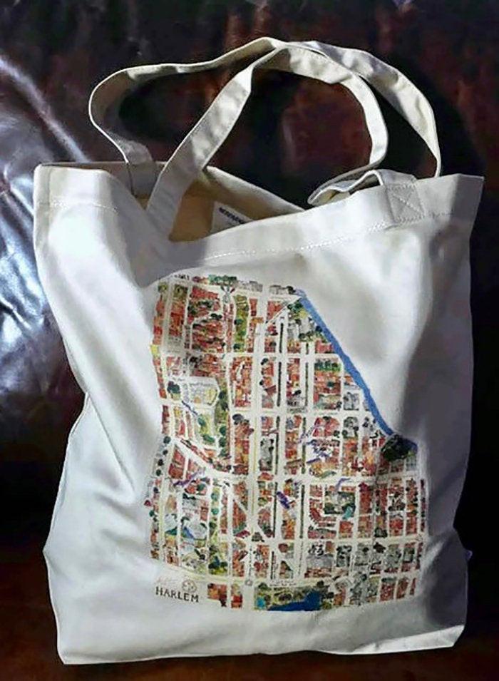 Harlem Map Tote Bag by AFineLyne
