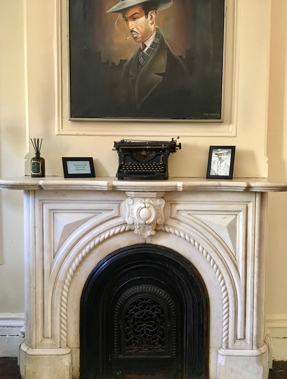 The mantel at the Langston Hughes House