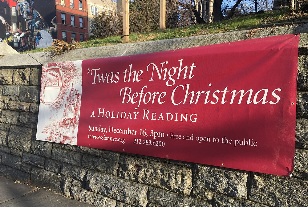 The reading of Twas the Night Before Christmas is held at Harlem's Church of the Intercession