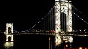 The George Washington Bridge tower lights are on for only a few days a year, including Memorial Day