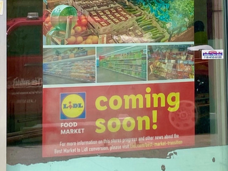 When exactly is Lidl opening in Harlem?