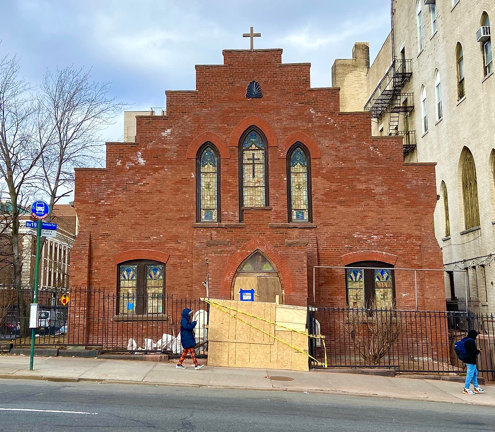 Mt. Zion Lutheran Church at 421 W 145th Street in Hamilton Heights has a new look after renovations