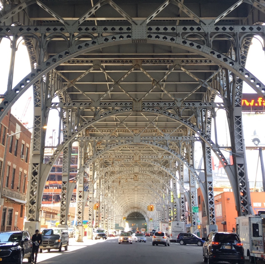 Under the Riverside Drive Viaduct in West Harlem.