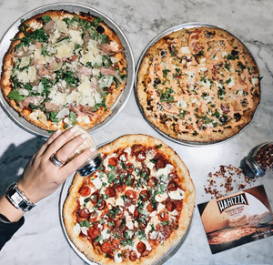Thin-crust personal pizzas from Wahizza
