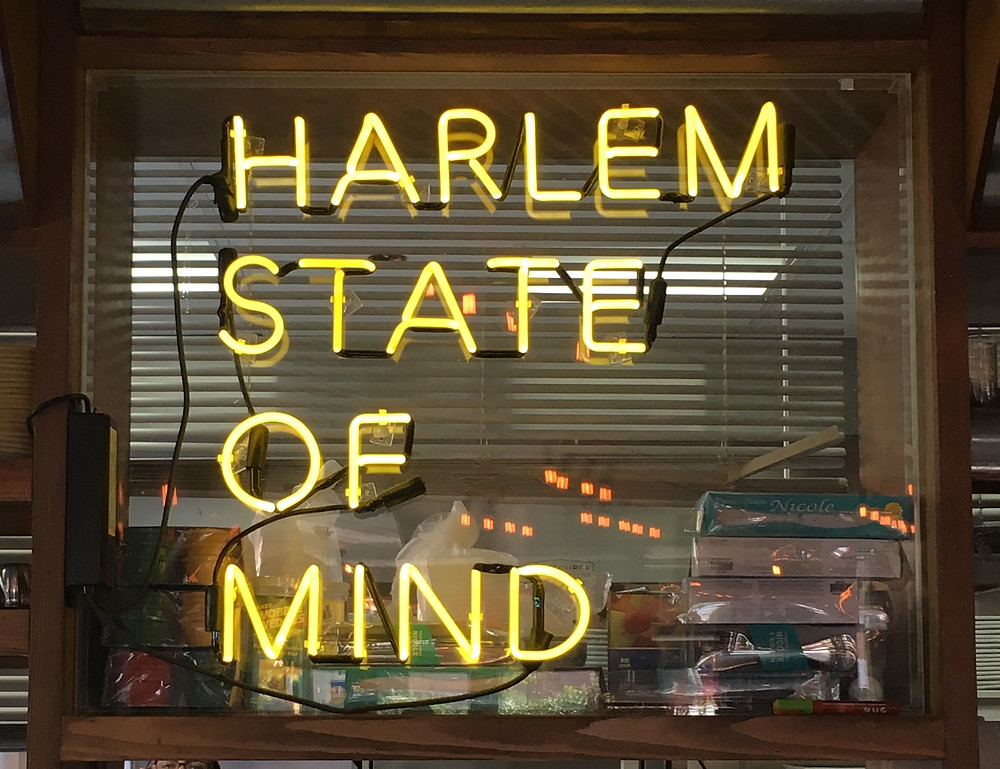 neon sign at Angel of Harlem