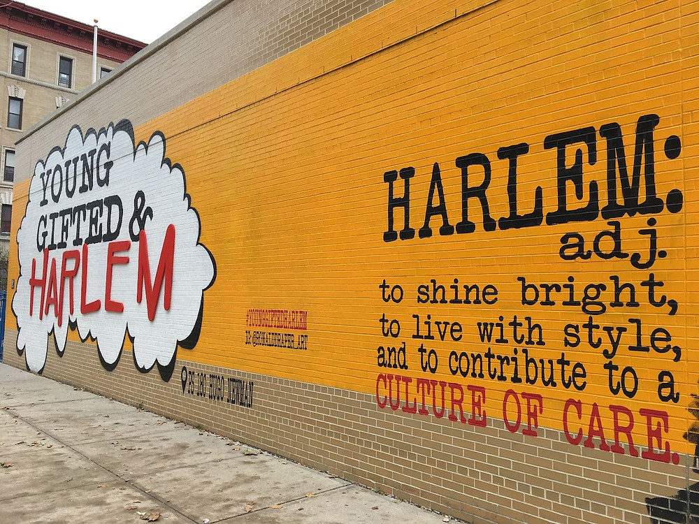 """""""Young Gifted & Harlem"""" mural by Ronald Draper"""