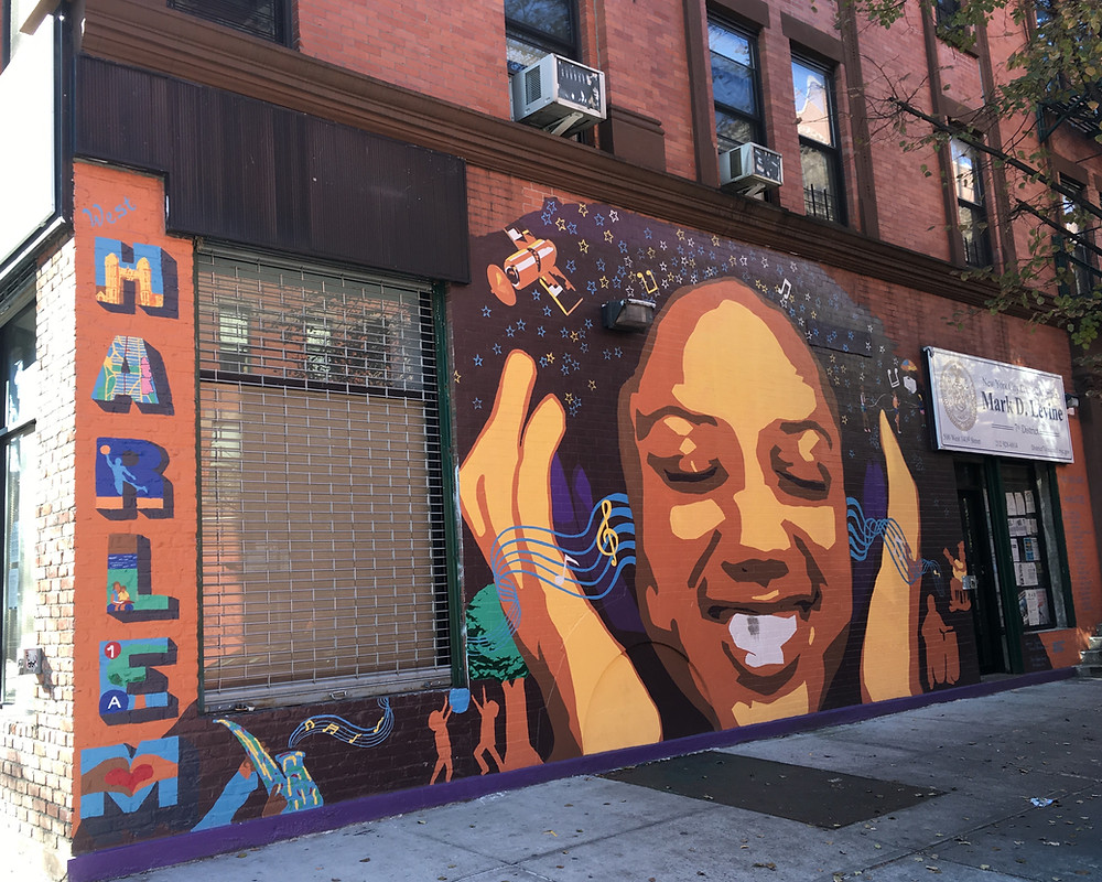 Harlem mural on the office of council member Mark Levine