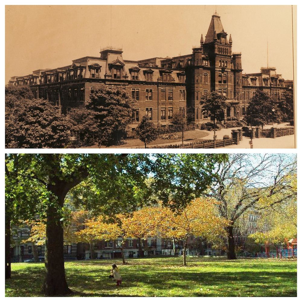 The spot where Hebrew Orphan Asylum once stood is now Jacob H. Schiff Playground