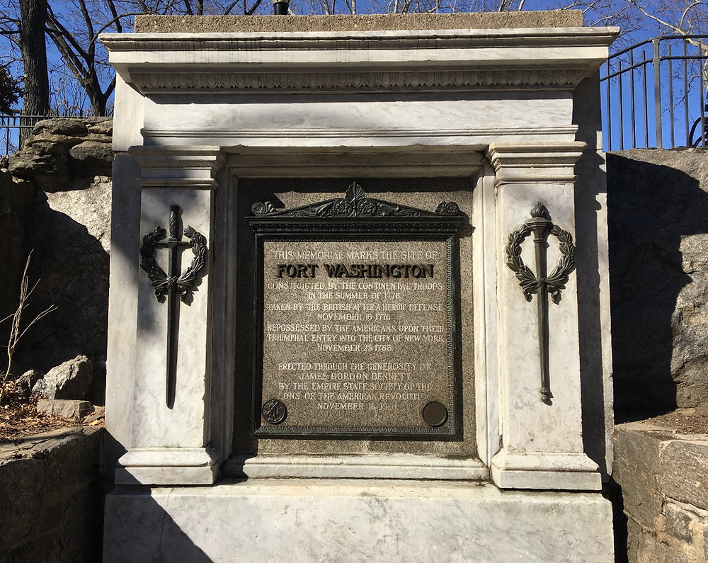 Fort Washington plaque