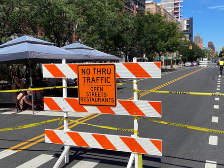 This restaurant-lined stretch in Harlem is now closed to traffic every weekend through October