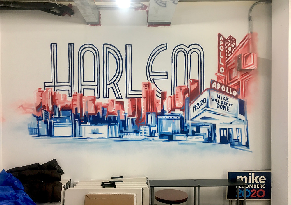 A peek inside Michael Bloomberg's Harlem campaign field office
