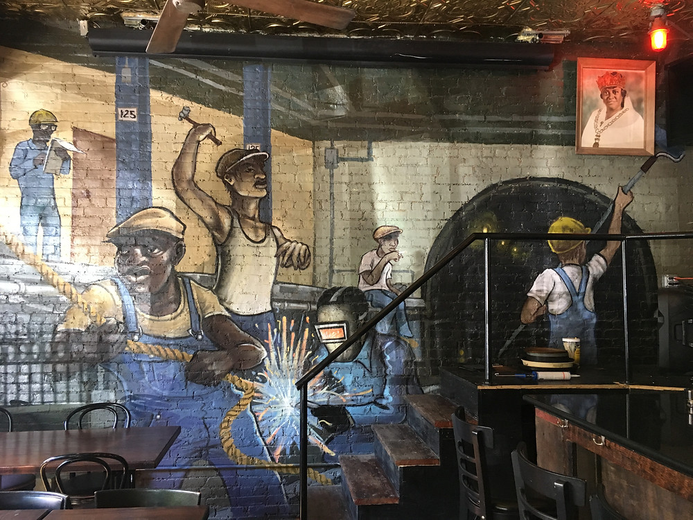 The mural in Harlem Ale House