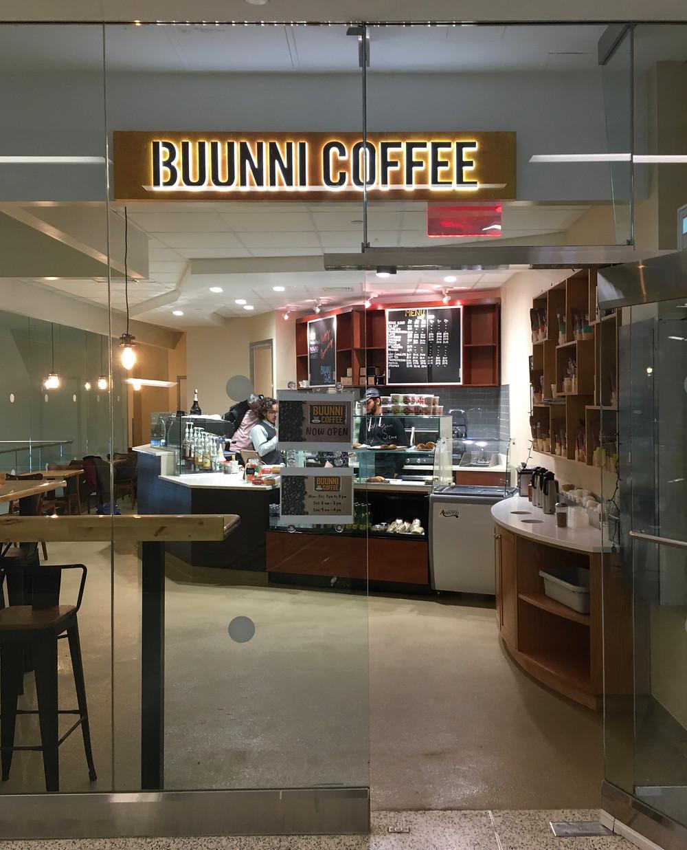The new Buunni Coffee in the George Washington Bridge Bus Terminal Market