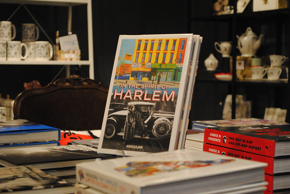 Stylish coffee table books at NiLu in Harlem