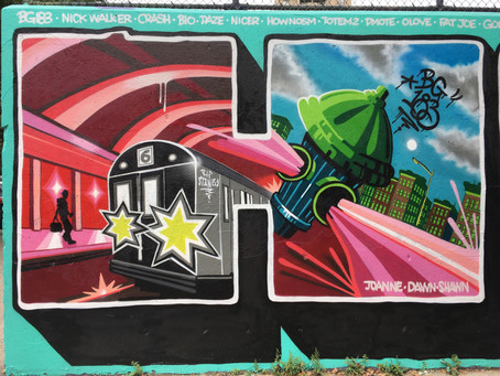A fresh 'Harlem' mural (and much more new street art) debuts at the Graffiti Hall of Fame