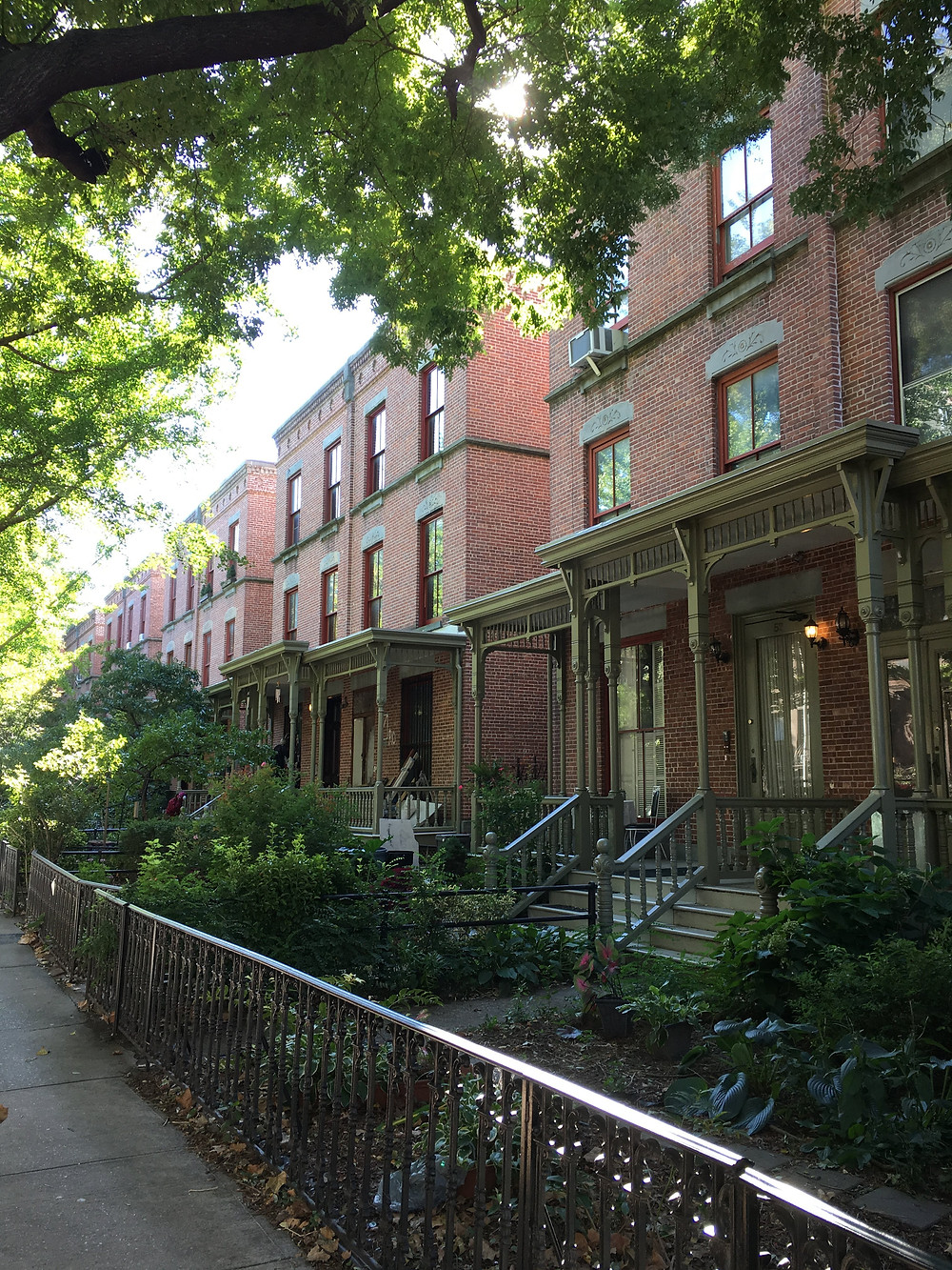 Beautiful streets in Harlem like Astor Row