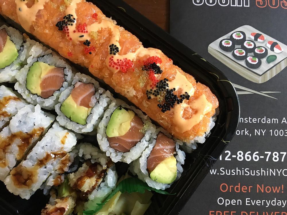 """""""The Manhattan"""" sushi set from Sushi Sushi in Harlem"""