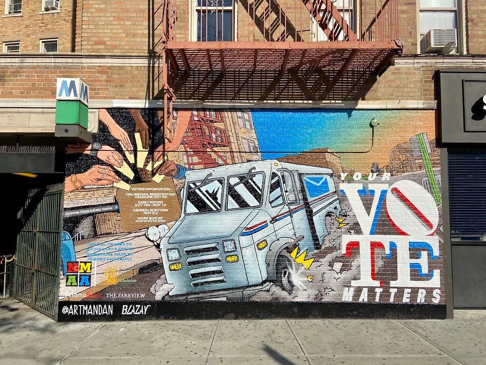 Election year street art: Your Vote Matters by @artmandan