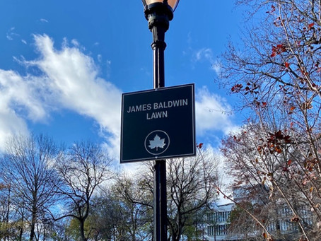 Harlem now has two newly renamed public places: James Baldwin Lawn and Langston Hughes Playground