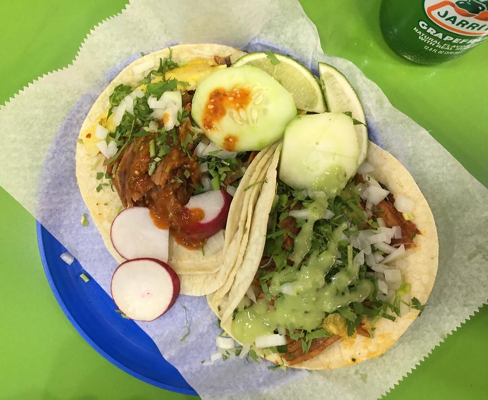 The al pastor tacos at Taco Mix