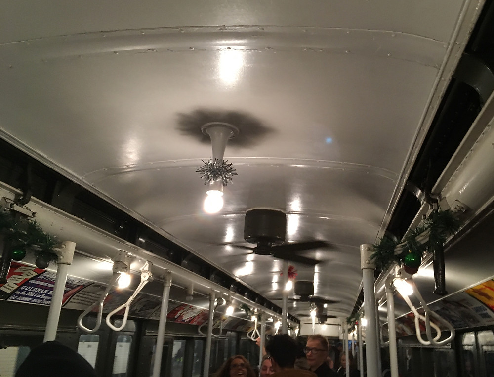 The vintage cars feature ceiling fans instead of air conditioning