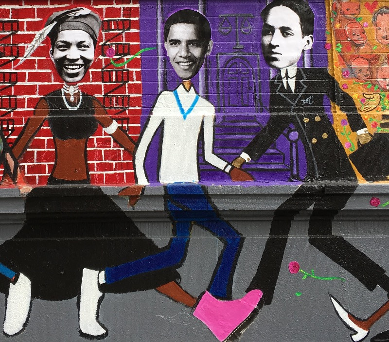 Planet Harlem mural by Paul Deo