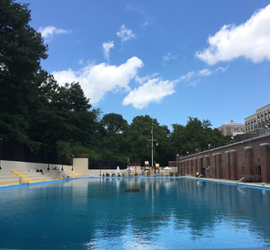 The Olympic-sized Jackie Robinson Pool in Harlem