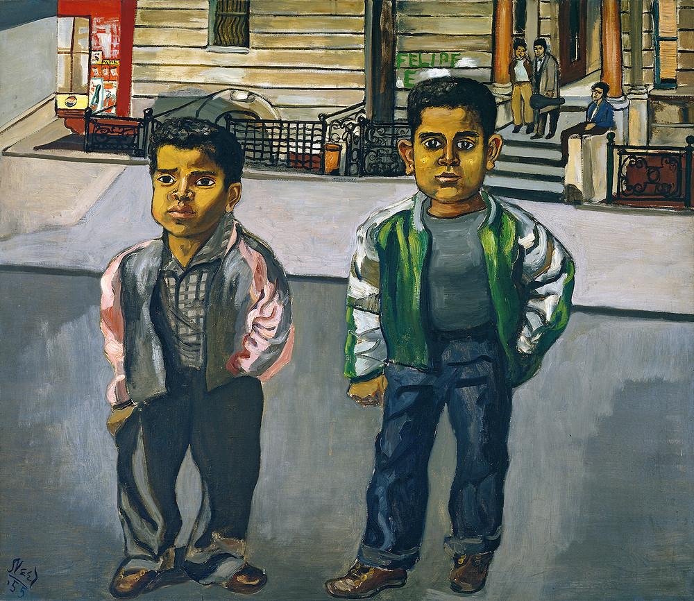 Alice Neel, Dominican Boys on 108th Street, 1955