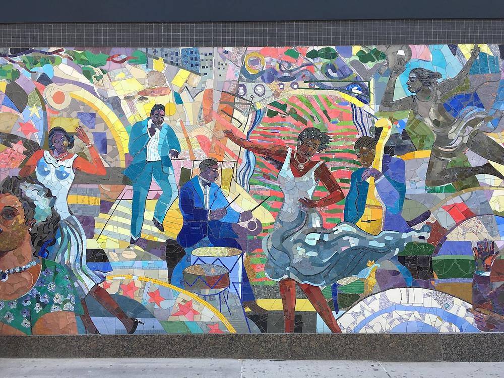 """""""Spirit of Harlem"""" mosaic mural by Louis Delsarte"""