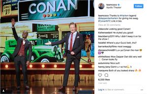 Conan and Dapper Dan at the Apollo Theater