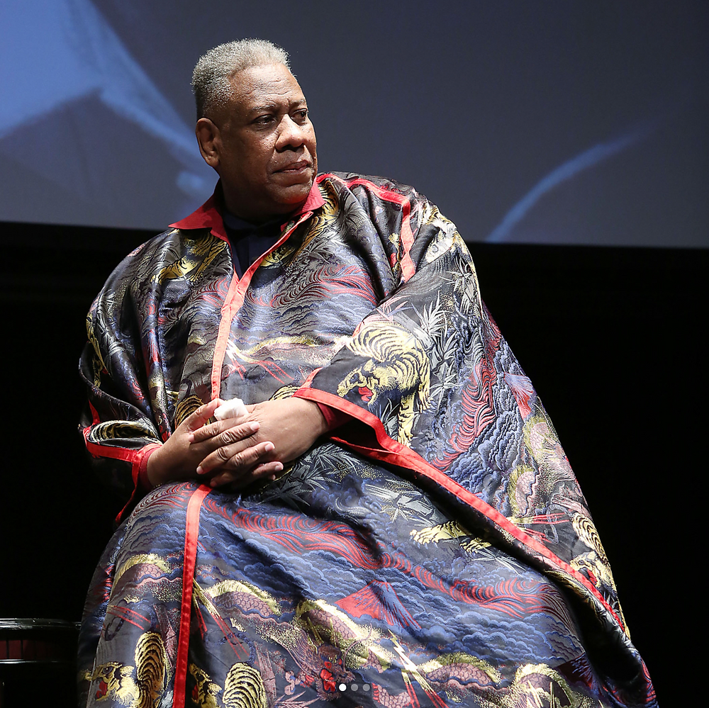 Andre Leon Talley wears custom Dapper Dan. Image: @gospelaccordingtoandre via Instagram