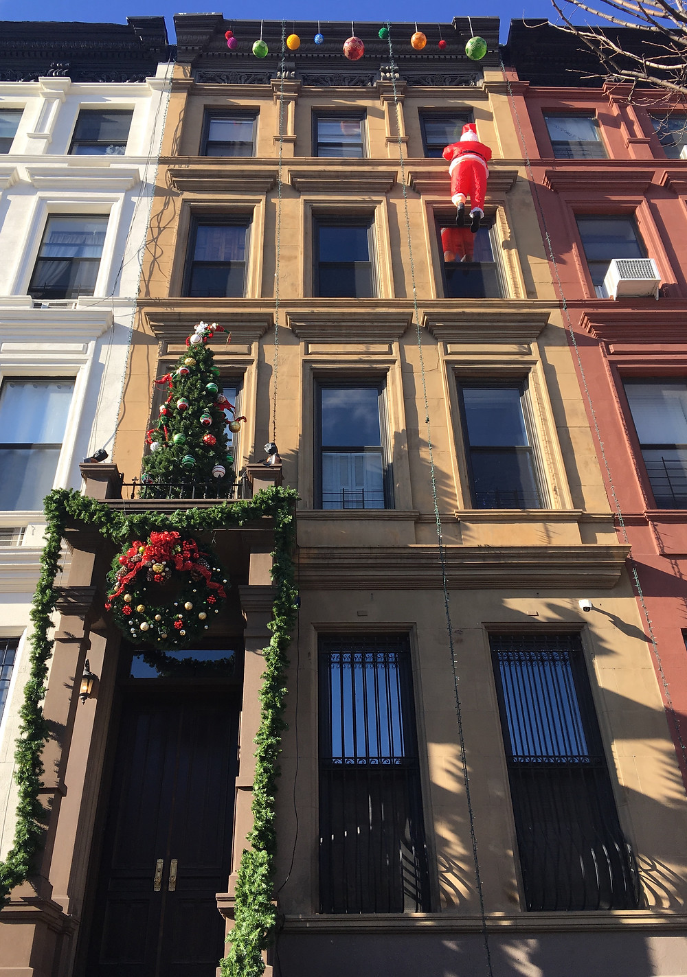 Neil Patrick Harris' townhouse during the holidays