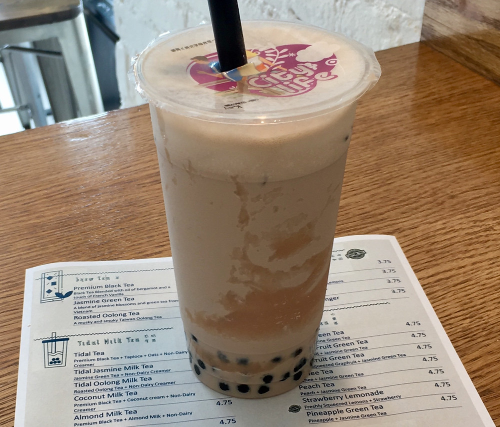 Bubble tea spot Tidal Tea just opened across from City College in Hamilton Heights